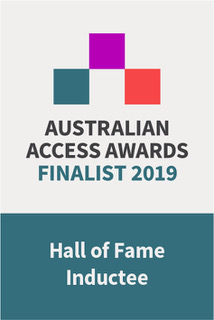 Australian Access Awards Finalist 2019 Hall of Fame Inductee badge
