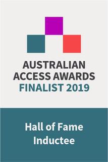 Australian Access Awards Finalist 2019 Hall of Fame Inductee badge